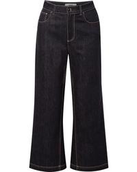 Gonna pantalone blu scuro di Fendi
