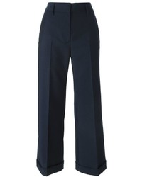 Gonna pantalone blu scuro di Jil Sander