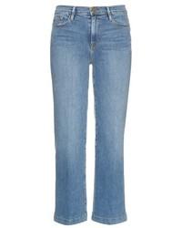 Gonna pantalone di jeans azzurra