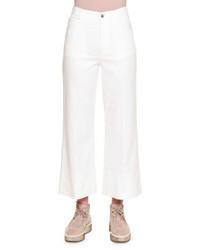 Gonna pantalone di jeans bianca