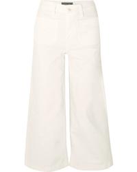 Gonna pantalone di jeans bianca di J.Crew