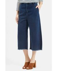 Gonna pantalone di jeans blu scuro
