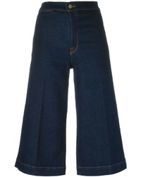 Gonna pantalone di jeans blu scuro di Frame