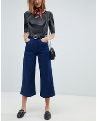 Gonna pantalone di jeans blu scuro di Maison Scotch