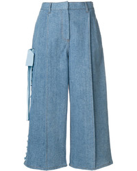 Gonna pantalone di jeans blu di Fendi