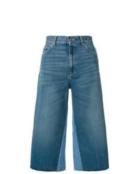 Gonna pantalone di jeans blu di Gucci