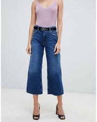 Gonna pantalone di jeans blu di Mango
