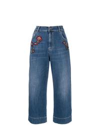 Gonna pantalone di jeans blu di Pinko