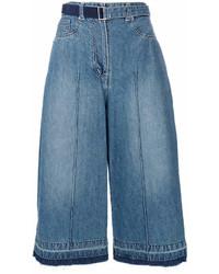 Gonna pantalone di jeans blu di Sacai