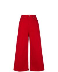 Gonna pantalone di jeans rossa di MSGM