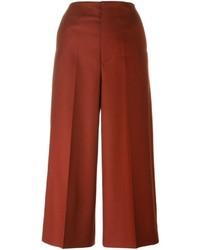 Gonna pantalone di lana rossa di Marni