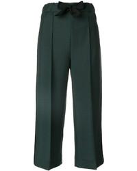 Gonna pantalone di lana verde scuro di Fendi