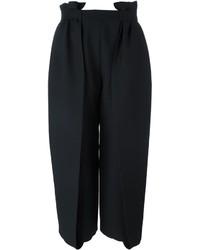 Gonna pantalone di seta nera di Fendi