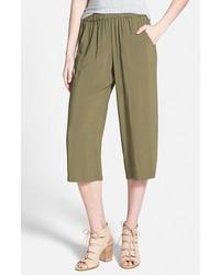 Gonna pantalone verde oliva
