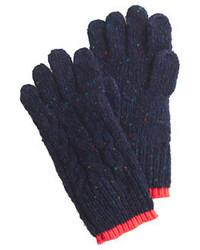 Guanti di lana blu scuro