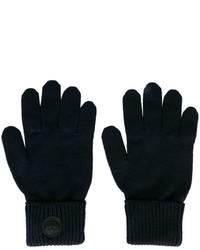 Guanti di lana blu scuro di DSQUARED2