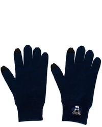 Guanti di lana blu scuro di Kenzo