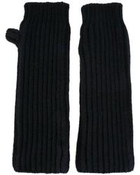 Guanti di lana blu scuro di Marni