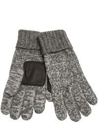Guanti di lana grigi