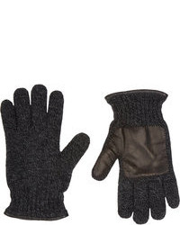 Guanti di lana grigio scuro