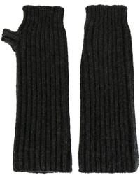 Guanti di lana grigio scuro di Marni