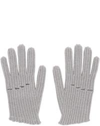 Guanti di lana lavorati a maglia grigi