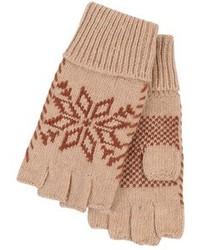 Guanti di lana marrone chiaro