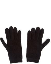 Guanti di lana neri di Inverni