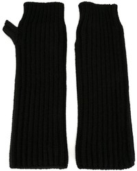 Guanti di lana neri di Marni