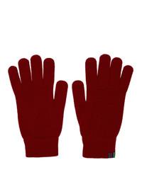 Guanti di lana rossi di Ps By Paul Smith