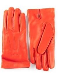 Guanti in pelle arancioni di Etro