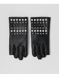 Guanti in pelle con borchie neri di ASOS DESIGN