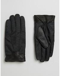 Guanti in pelle neri di Ted Baker