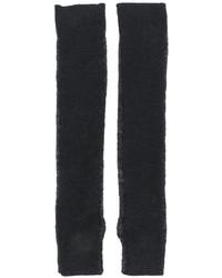 Guanti lunghi di lana grigio scuro di MM6 MAISON MARGIELA