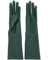 Guanti lunghi verde scuro di Stella McCartney