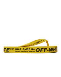 Infradito di gomma gialli di Off-White