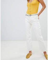 Jeans a campana bianchi di Mango