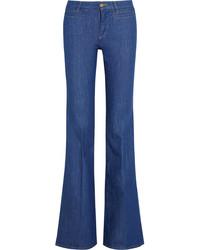 Jeans a campana blu