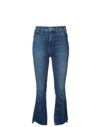 Jeans a campana blu scuro di Mother