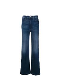 Jeans a campana blu scuro di Mother