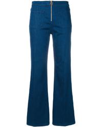 Jeans a campana blu scuro di Tory Burch