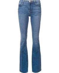 Jeans a campana blu di Frame