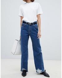 Jeans a campana blu di Mango