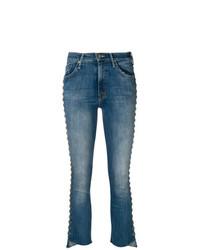 Jeans a campana blu di Mother