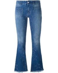 Jeans a campana blu di Stella McCartney