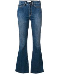 Jeans a campana blu di Tory Burch