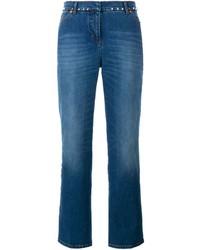 Jeans a campana blu di Valentino