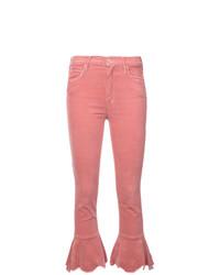 Jeans a campana fucsia di Mother