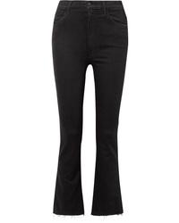 Jeans a campana neri di Mother