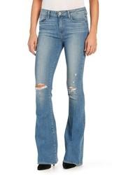 Jeans a campana strappati azzurri